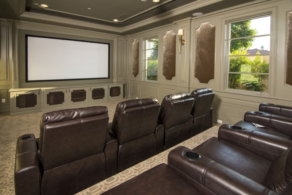 Elegant Home Theater built by Richard Smith Custom Home Development in Arcadia, California